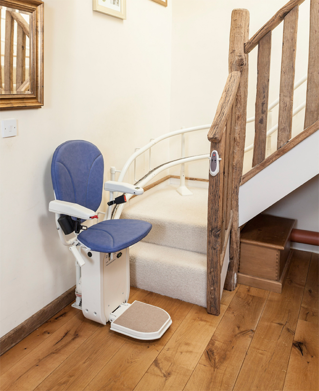 Ameriglide Platinum Curved Factory Reconditioned Stair Lift