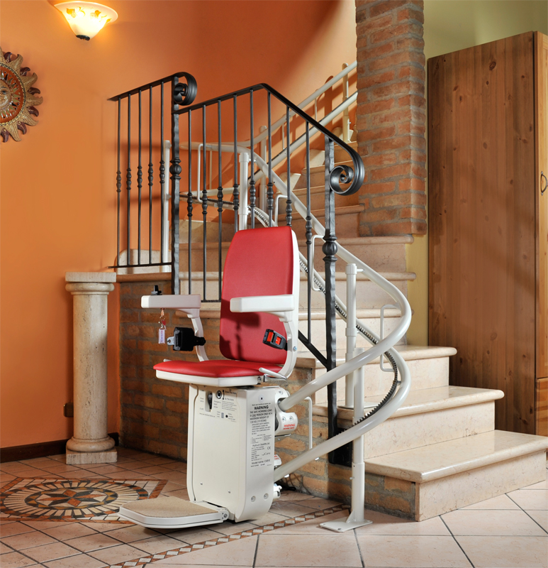 AmeriGlide Platinum Curved Stair Lift HD