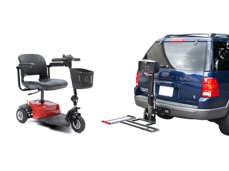 Ameriglide traveler companion vehicle lift scooter package for Motorized wheelchair lifts for cars
