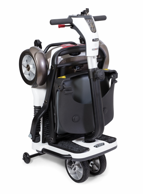 Pride go go folding scooter 4 wheel scooters for Go go motorized scooter