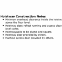 Hoistway Construction Notes