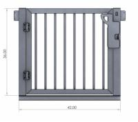 "Outdoor Elevator 36"" Picket Style Gate"