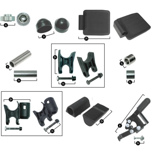 Various Power Wheelchair Parts
