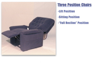 A 3 position lift assist chair in action.