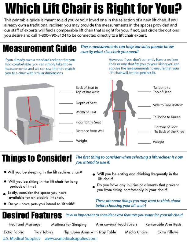 Follow these easy steps to measuring yourself for a lift chair purchase!