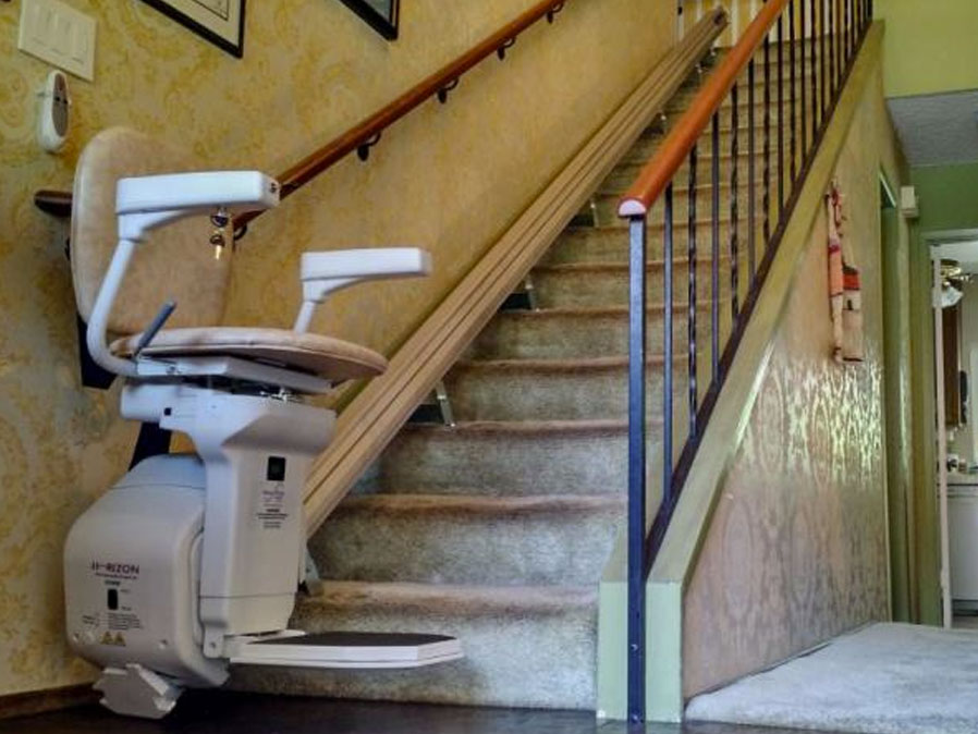 Takes 5 minutes or less to measure for your stair lift