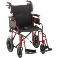 Deluxe Lightweight Transport Chair w/Handbrakes